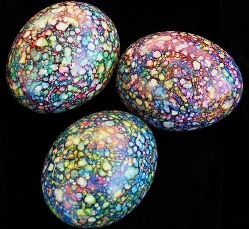 Spectacular Speckled Marbled Chicken Egg For Your Holiday Basket ♥