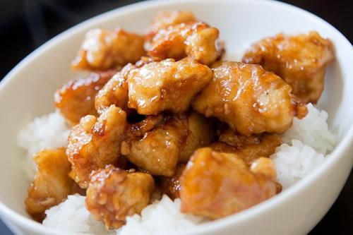 Copycat Panda Express Orange Chicken // The grocery list is SO getting updated!