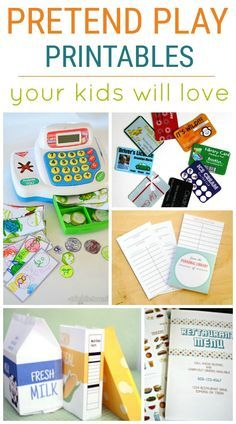 Pretend Play Printables your children will love! Pretend Play is so important for little people.  These free pretend play printables will help add to the fun!  Great for Kindergarten or preschool.