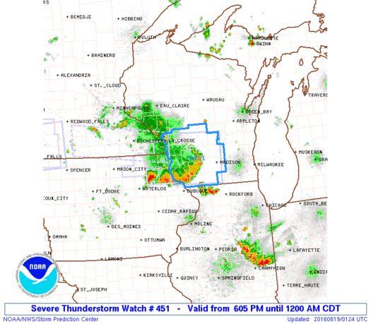 SPC Severe Thunderstorm Watch 451 - http://blog.clairepeetz.com/spc-severe-thunderstorm-watch-451/