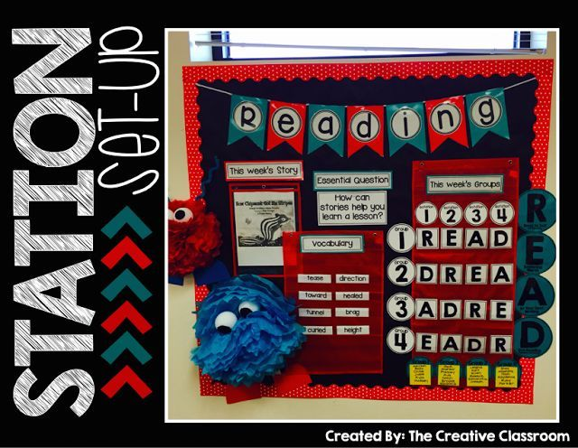 Station organization ideas math and bulletin boards for Bulletin board organization