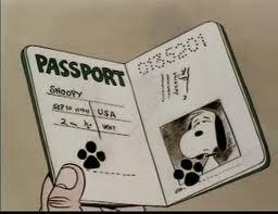 Snoopy's passport - Bon Voyage, Charlie Brown
