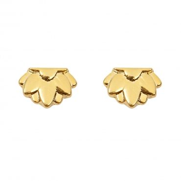 """Delphi Earrings - available in gold or silver. Get 25% off these earrings with code """"foxypin"""" http://www.foxyoriginals.com/Delphi-Earrings-in-Gold.html Tags: gold earrings, imaginary voyage, gold, earrings, studs, foxy originals, delphi"""
