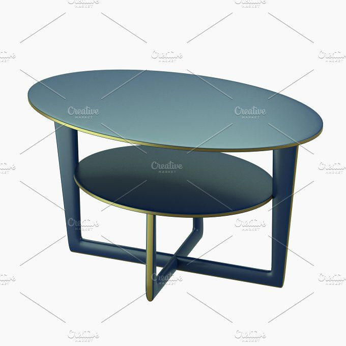 Modern table with two levels by CGTales on @creativemarket