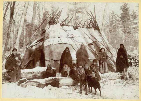 Ojibwa Wigwam on the St. Croix in 1885