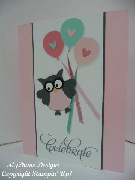 Owl Celebrate by Diane Malcor - Cards and Paper Crafts at Splitcoaststampers