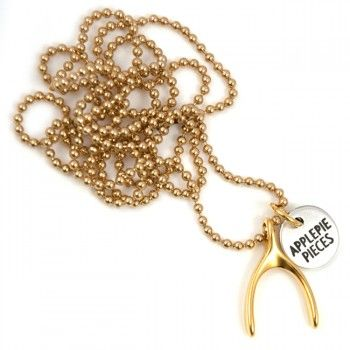 Big wishbone ketting gold  Pin to Win July