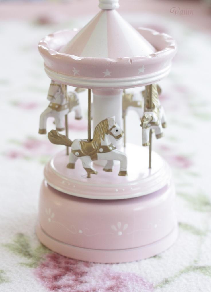Pink Carousel Music Box