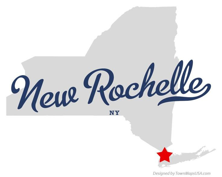 Map of New Rochelle New York NY
