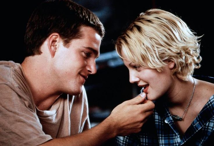 Drew Barrymore and Chris O'Donnell in Mad Love