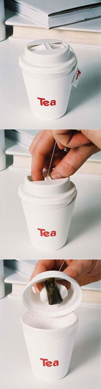 Clever tea cup!