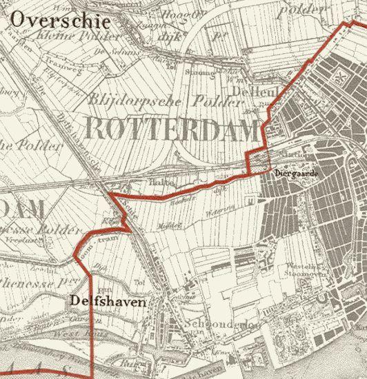 Op 2 april 1889 kwam Rotterdam met een voorstel om iets aan die grens over het Spoorwegemplacement te doen, maar daarvoor zou Rotterdam dan wel een financiële tegemoetkoming aan Overschie moeten betalen. Op 28 februari 1895 werd dit kleine stukje Overschie bij Rotterdam gevoegd