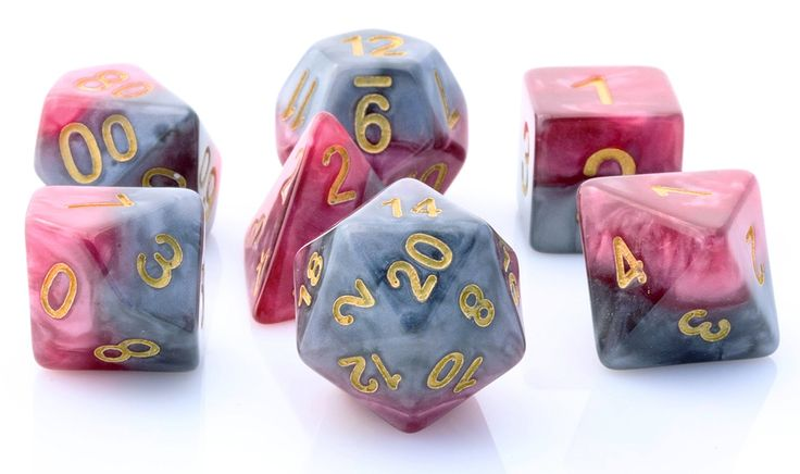 Halfsies Dice (Magma) RPG Role Playing Game Dice Set