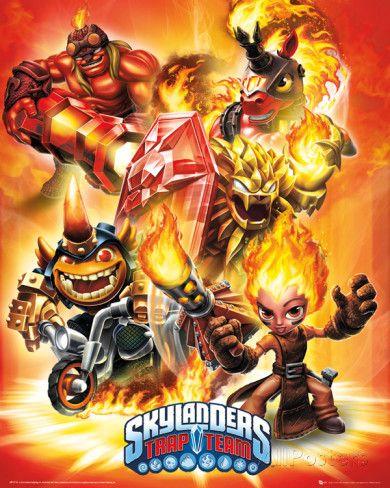 Skylanders Trap Team - Fire Miniplakat