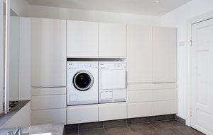 Du kan fx udnytte pladsen til vaskemaskine og tørretumbler.