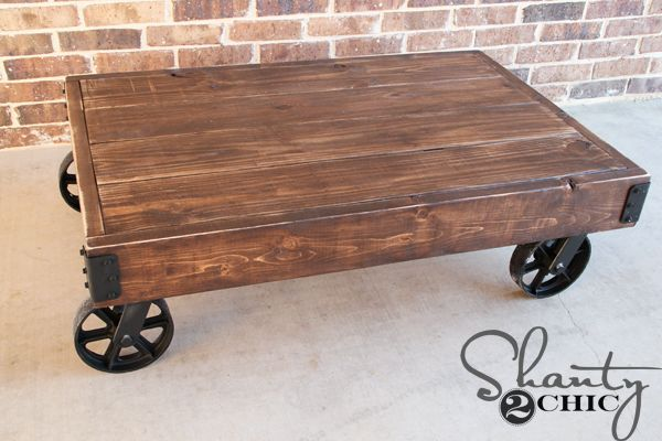 DIY-Coffee-Table-Cart--You can find the plans HERE over at Rogue Engineer and we've got the step-by-step tutorial for you to follow along with as well!