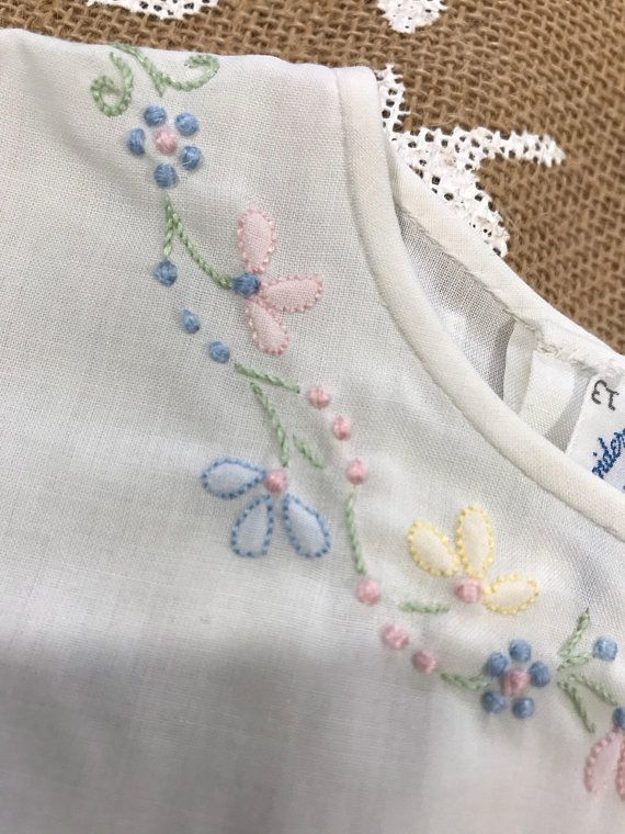 12m Madeira Embroidery Vintage Shadow Stitch Hand Embroidered ...
