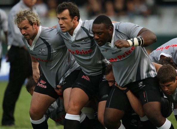 Sharks front row: The du Plessis brothers and Tendai Mtawarira