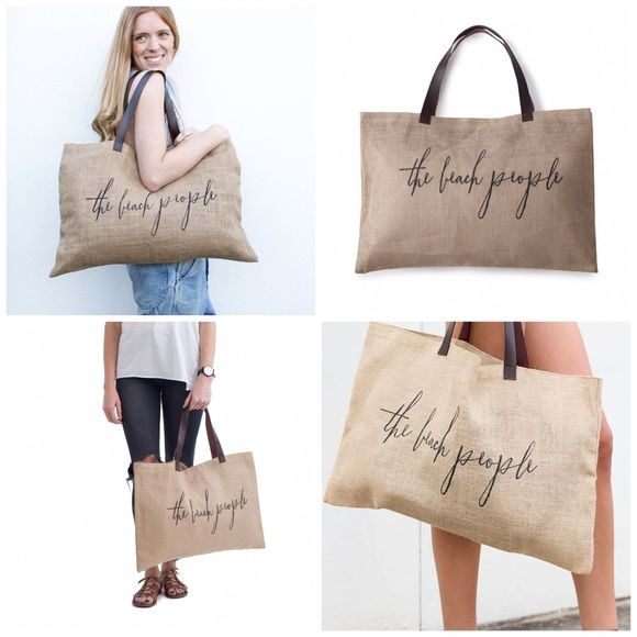 Jute Bag Never used. Perfect as a beach tote  Very lightweight. The Beach People Bags Totes