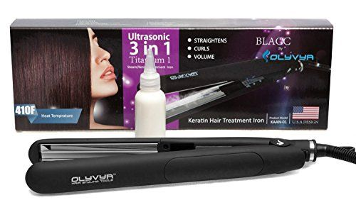 Professional Hair Straightener: Brazilian Keratin Treatment For Gorgeous Hair- Extra Fast Heating Hair Straightening Iron- Repairs Damaged Hair, Delivers Salon Like Results - With Bonus Gloves >>> You can get more details by clicking on the image.