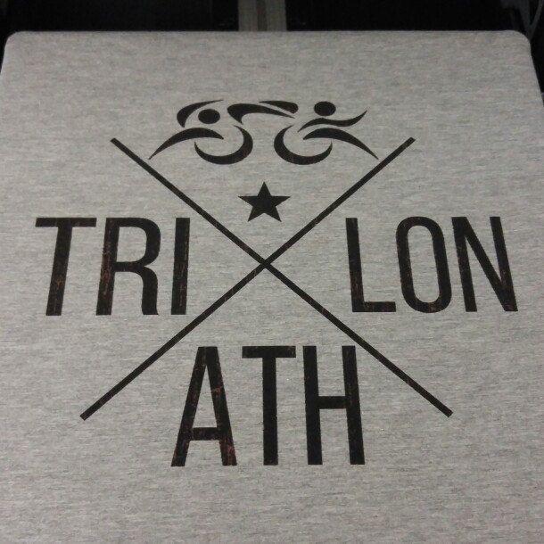 Vintage Look Triathlon Tshirt
