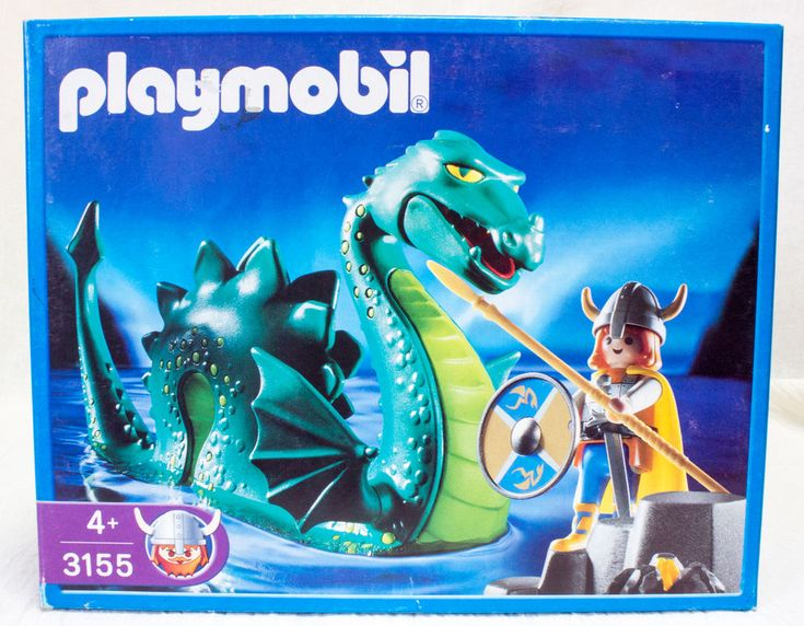Playmobil 3155 Nessie Sea Monster And Viking Sea