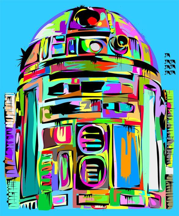 R2-D2   By: Takun Williams, via ComicsAlliance