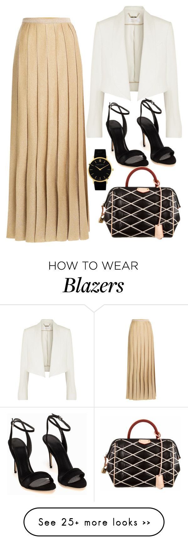 """Gold pleats"" by katiekorshunova on Polyvore featuring Missoni, Chloé, Louis Vuitton and Larsson & Jennings"