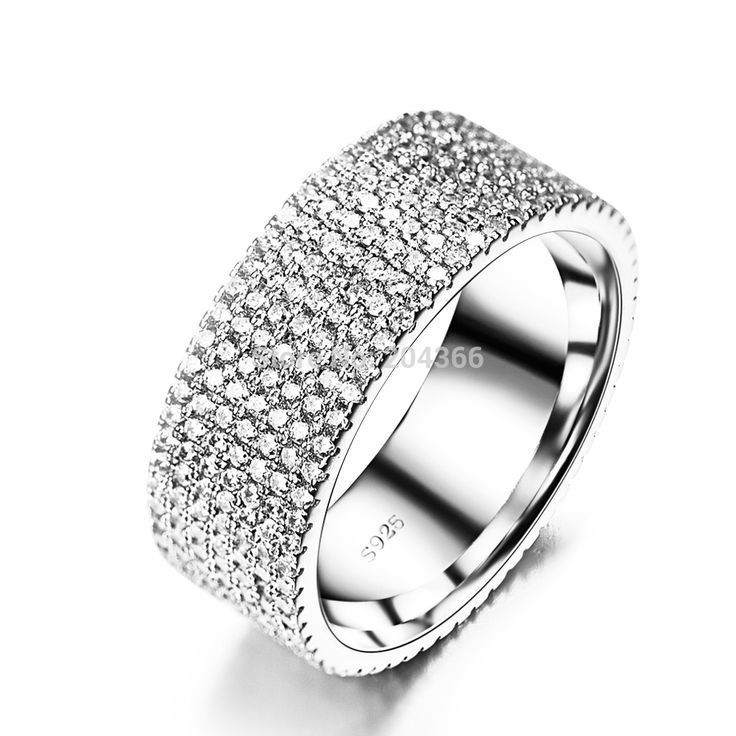 Find More Rings Information about GNJ0473 Free Shipping 7 row Full CZ Finger Ring Fashion Wedding Jewelry 2014 New 925 Sterling Silver Jewelry Rings for Christmas,High Quality Rings from Elegant trade Co., Ltd. on Aliexpress.com