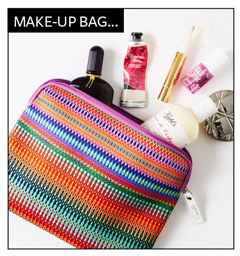 """We love the graphic """"Loomlover"""" print as a make-up bag #InStylexCamilla"""