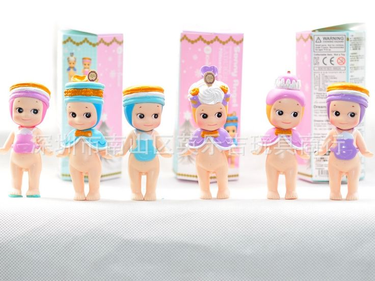 (52.37$)  Watch more here - http://ai9li.worlditems.win/all/product.php?id=32748381867 - 2017 Sonny Angel Chubby doll Christmas tree Elk Macaron cakes Christmas Funko pop New Year's gift Box Decoration PVC 8cm 6pcs