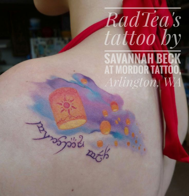 Tangled + LOTR + Bible verse. This is perfect. || RADTEA's Tangled/LotR tattoo