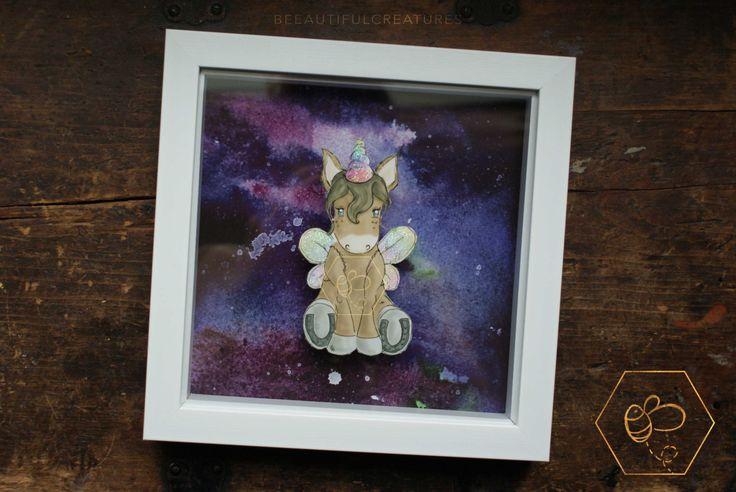 Be yourself, Papercut Art, Unicorn Art, Rainbow Art, Unicorn Nursery Decor, 3D Frame, Paper cut art, Unicorns, Purple Nursery Decor, Wings by BEEautifulcreatures on Etsy
