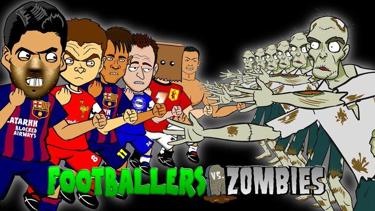 FOOTBALLERS vs ZOMBIES! feat. Suarez, Ronaldo, Neymar! (Halloween ...