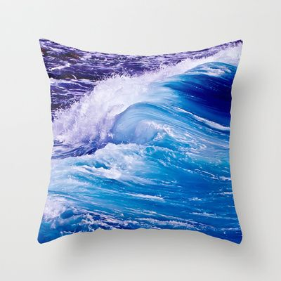 Blue Wave - Throw Pillow by Max Steinwald - $20.00