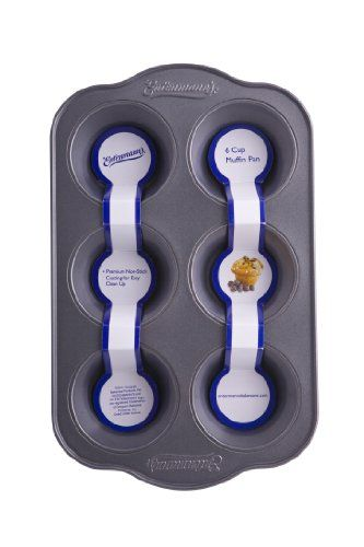 Entenmann's Bakeware Classic ENT19010 6-Cup Muffin/Cupcake Pan