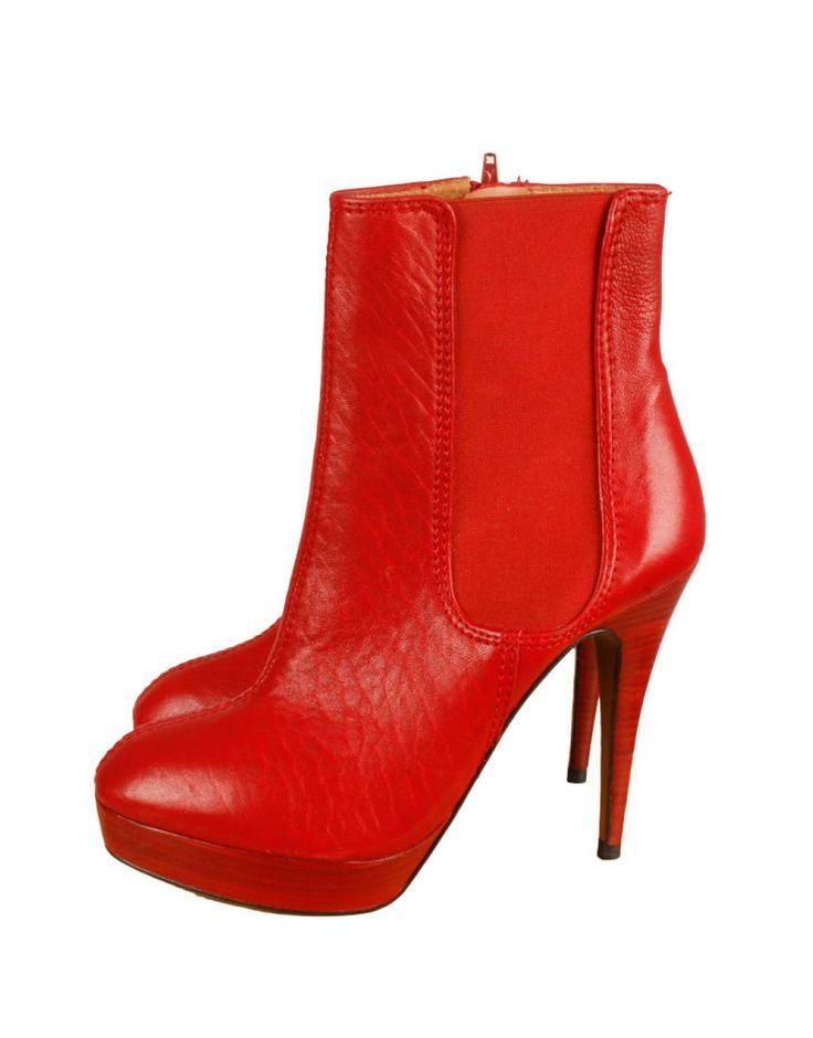 Botines rojos Zara 35€