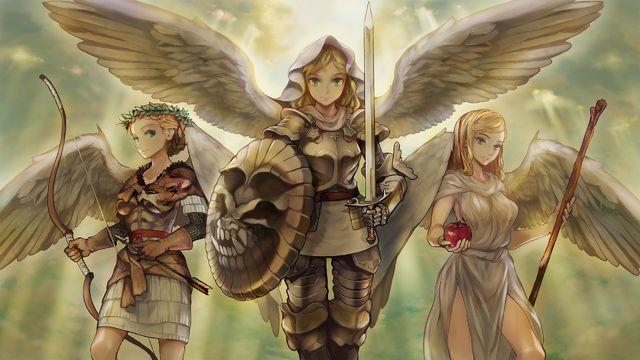 Three Goddesses, Takafumi Noma  Jula, Althena and Vernas