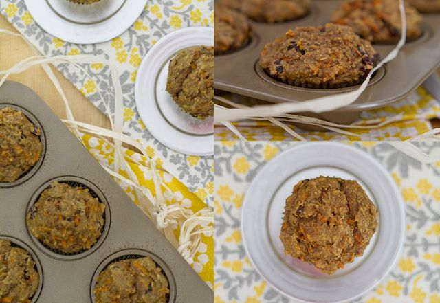 No sugar carrot banana muffin: I made them and they are good! I didn't have any flax or chia on hand, so I threw in some oats instead, but otherwise made as is! With my version, they come out to approximately 70 calories per muffin!