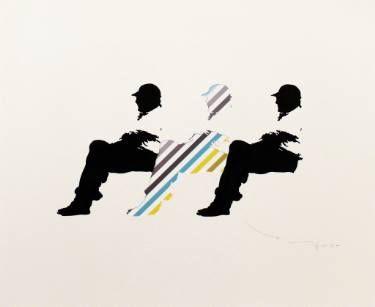 "Saatchi Art Artist Tehos Frederic CAMILLERI; Drawing, ""Tehos - Three men on a bench 17"" #art"