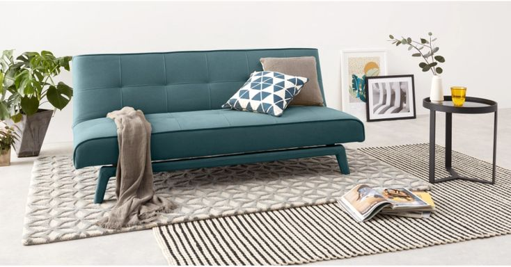 MADE Sherbet Blue Sofa bed Bed linen design, Sofa