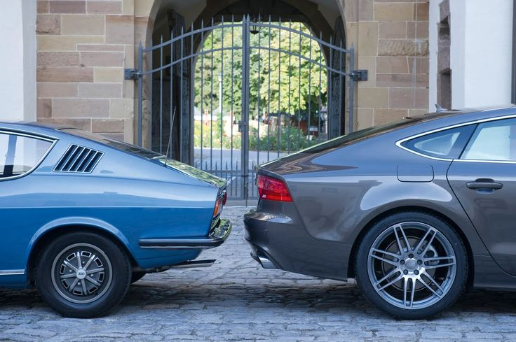 Past meets present: Audi 100 Coupé S and Audi A7 Sportback | quattroholic.com