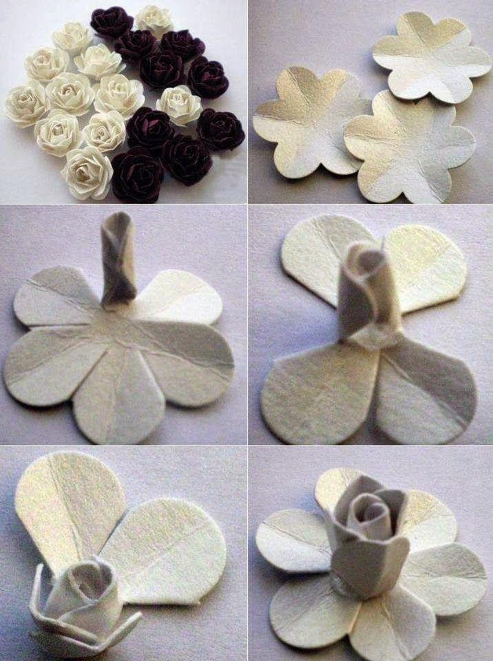 Flores de caixa de ovo passo a passo - reciclagem