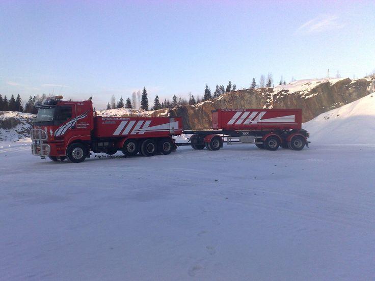 Truck Sisu Kuljetus Juha Luoto Ky Orimattila Finland..