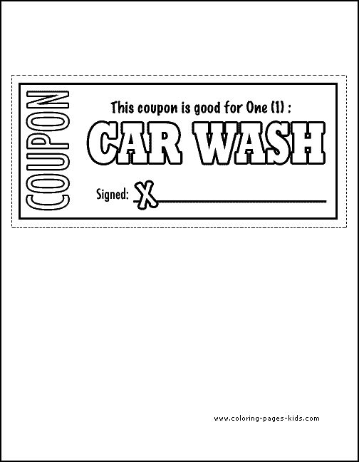 Valet Car Wash Coupons