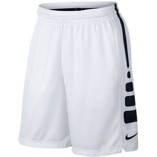 "Nike Men's Elite Dri-fit Basketball 9"" Shorts ($45) ❤ liked on Polyvore featuring men's fashion, men's clothing, men's activewear and men's activewear shorts"