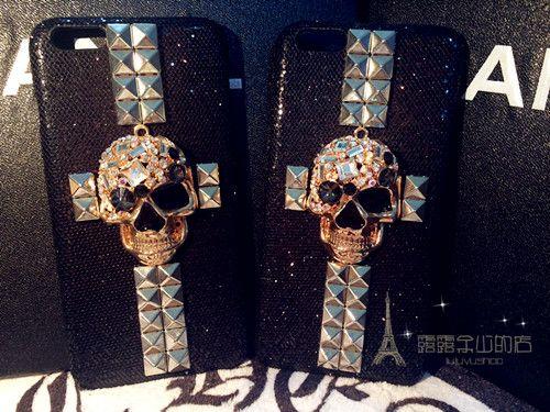 Punk Rock Skull Metal Stud Cross  iPhone 6, iPhone 6 Plus