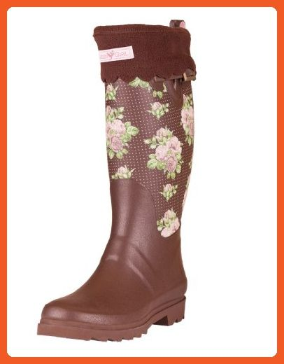 Garden Girl USA Gardening Fleece Liner High Boot, Small, Brown - Boots for women (*Amazon Partner-Link)