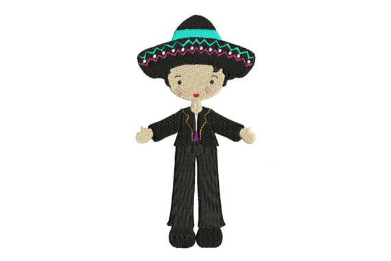 Whimsical Bohemian Mexican Folksy Boy Black Suit by Oopsidaisi