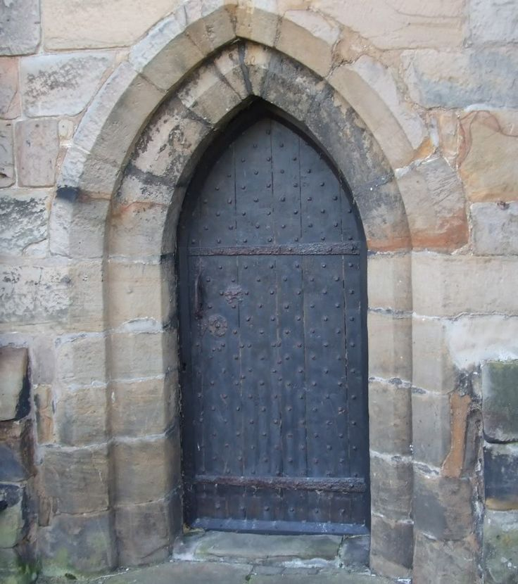 The north door(in parish churches known as the devil's door) at Sefton church, early 1400's.